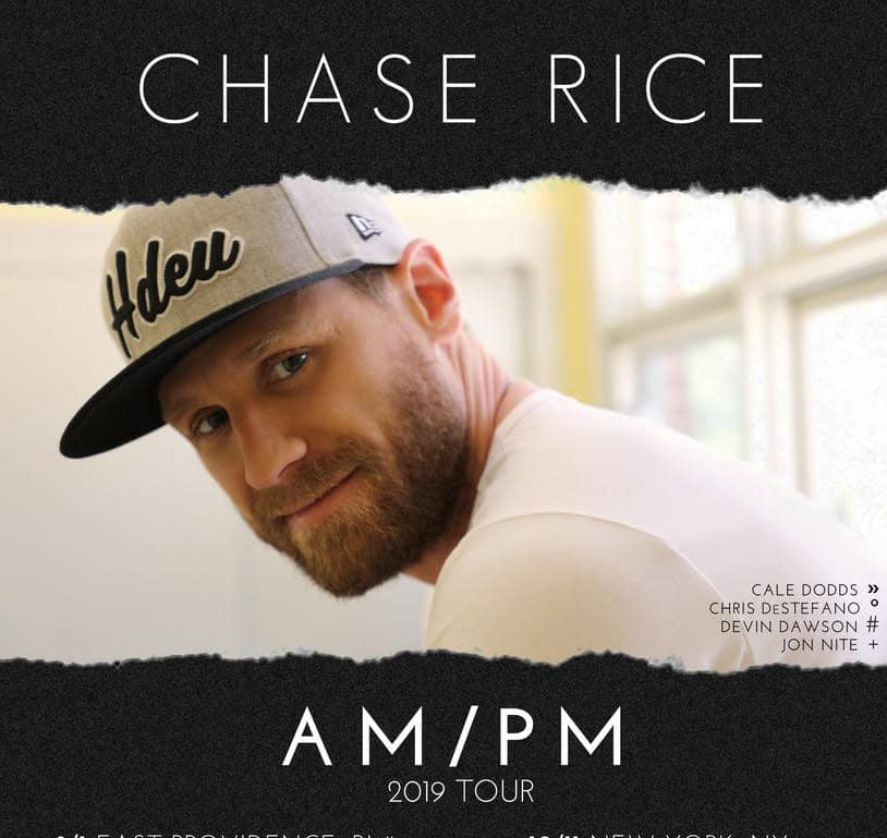 Chase Rice announces fall AM/PM Tour (From The Mailbag)