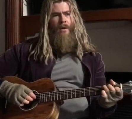 Fat Thor singing Johnny Cash will make your day