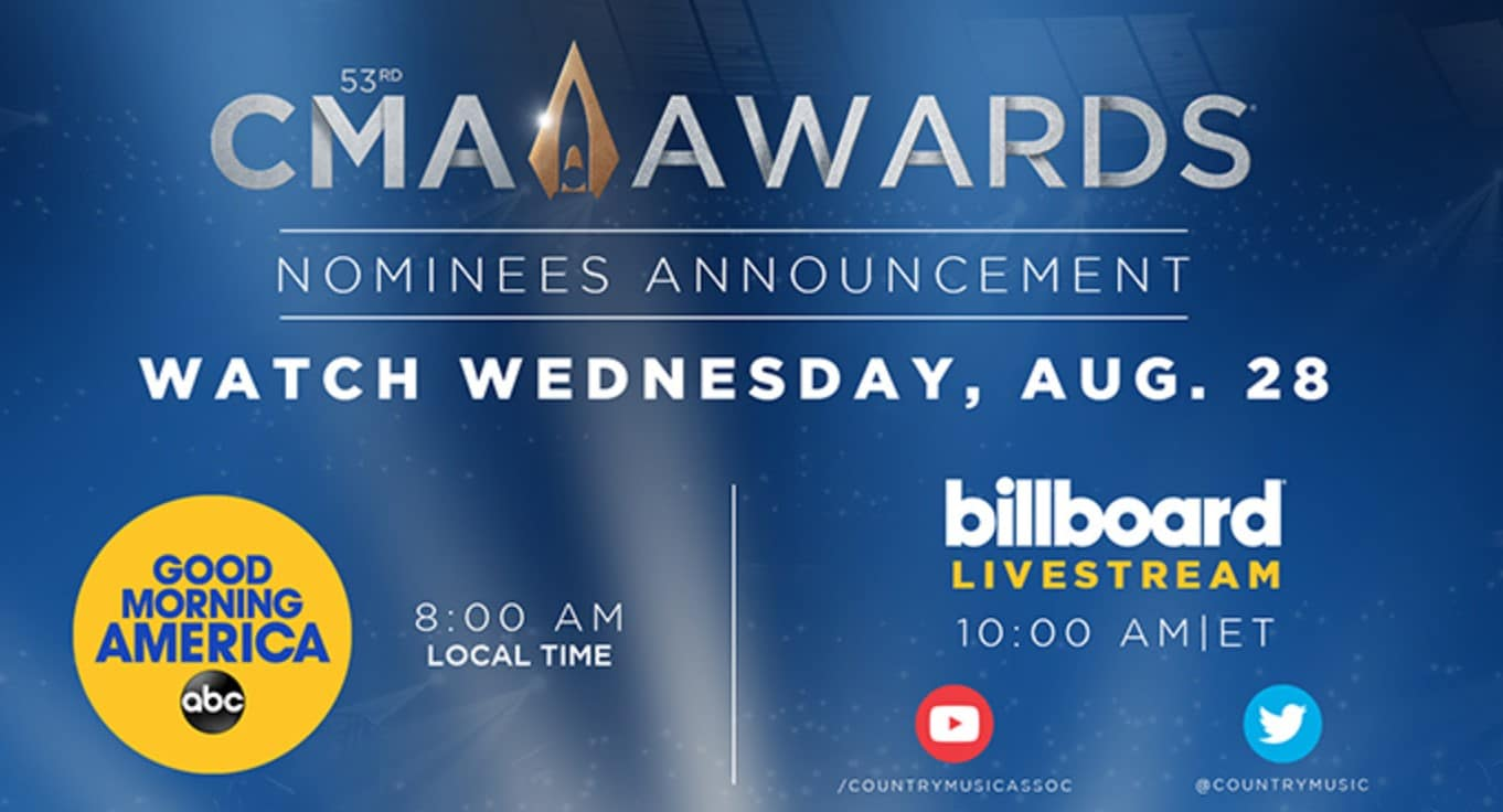 Final 2019 CMA Awards nominations to be announced on Wednesday