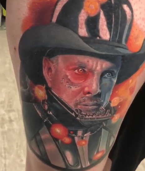 The Garth Brooks crossed with Darth Vader tattoo is a thing and it's epic