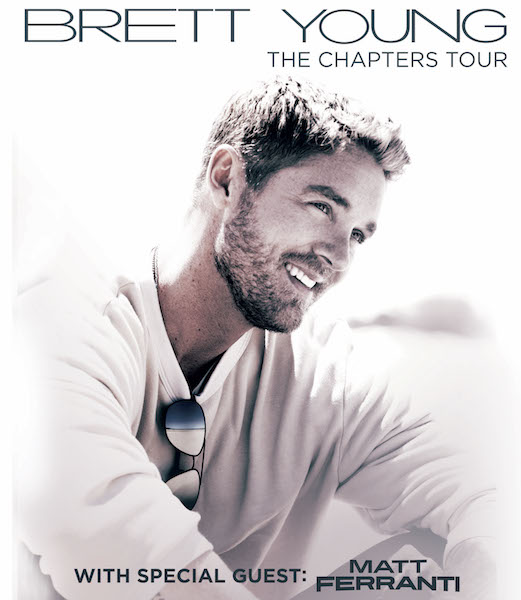 Brett Young announces The Chapters Tour (from the mailbag)