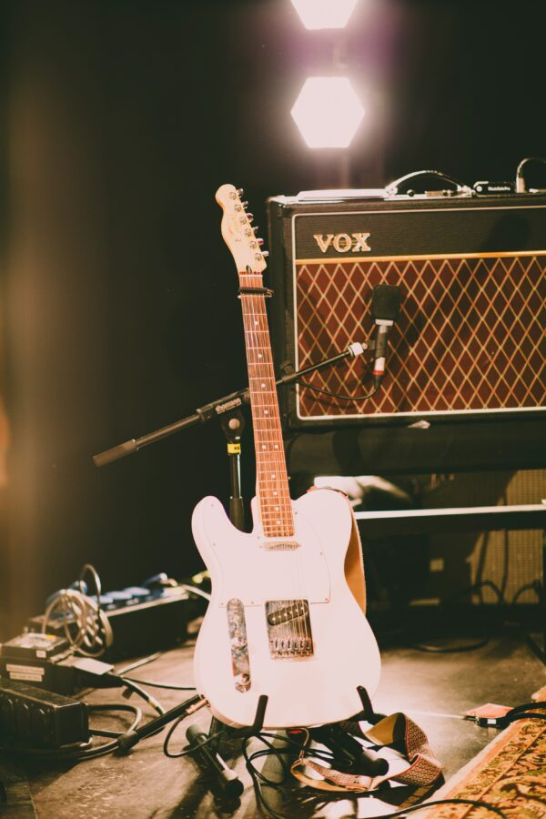 guitar and Vox amplifier