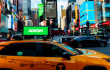 Lyft Grants Adkom Exclusive Rights to Sell NYC Car-top Ad Screen Inventory