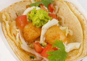 Hang 10 Tacos Battered Scallop Tacos