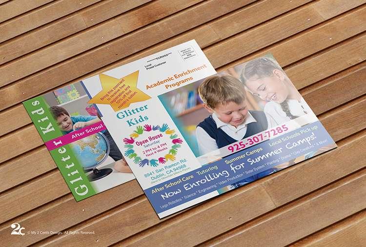 Child Care Postcard Design