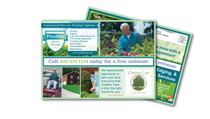 EDDM postcard graphic design outdoor care services