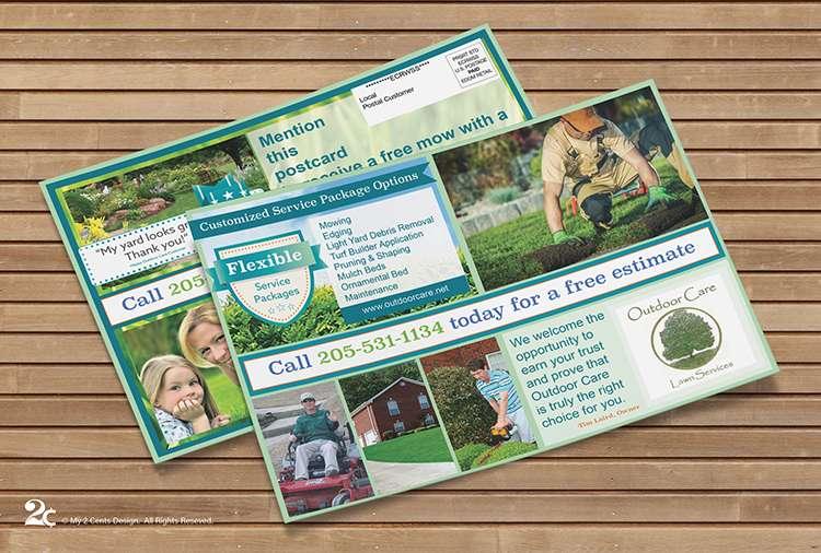 Lawn Care EDDM Postcard Design
