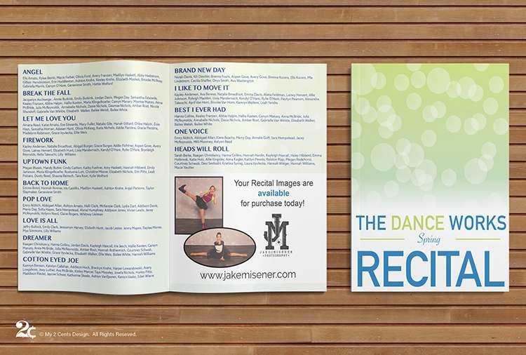 Dance Recital Program Design