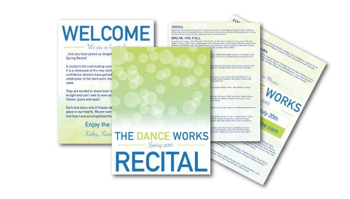Multi Page Program Design for Dance Recital