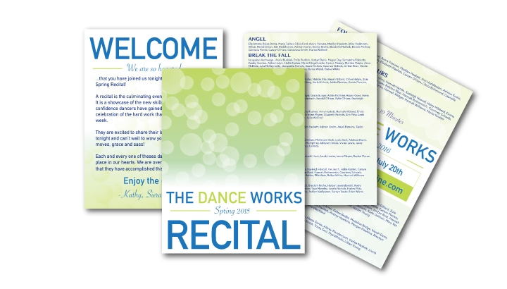Multi Page Program Design for Dance Recital