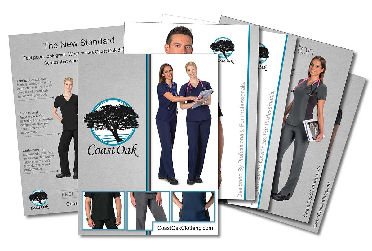 Multi-Page Booklet Catalog Print Ready Design for Medical Clothing Company Example