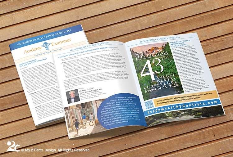 Newsletter Design Dental Non-profit Organization