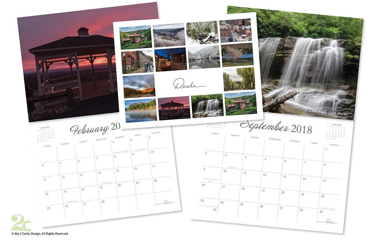Minimalistic Calendar Design to Showcase Beautiful Photography
