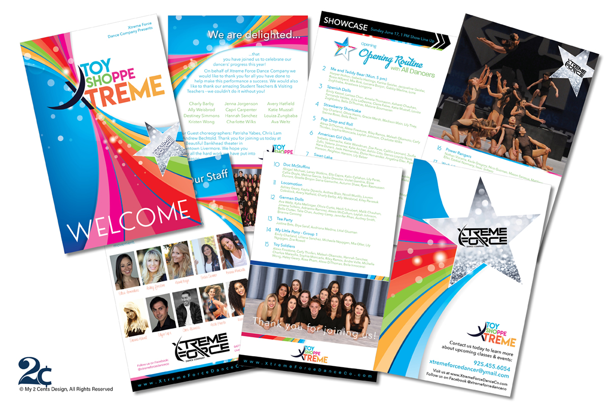 Dance Recital Performance Program Design - My 2 Cents Design
