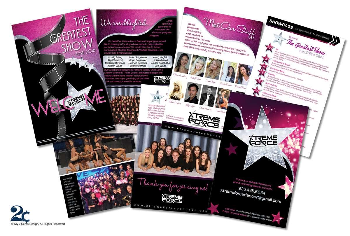Dance Recital Performance Program Design Example