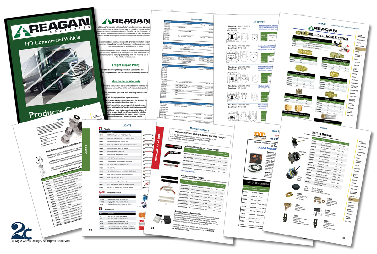 Auto Parts Catalog Design - My 2 Cents Design
