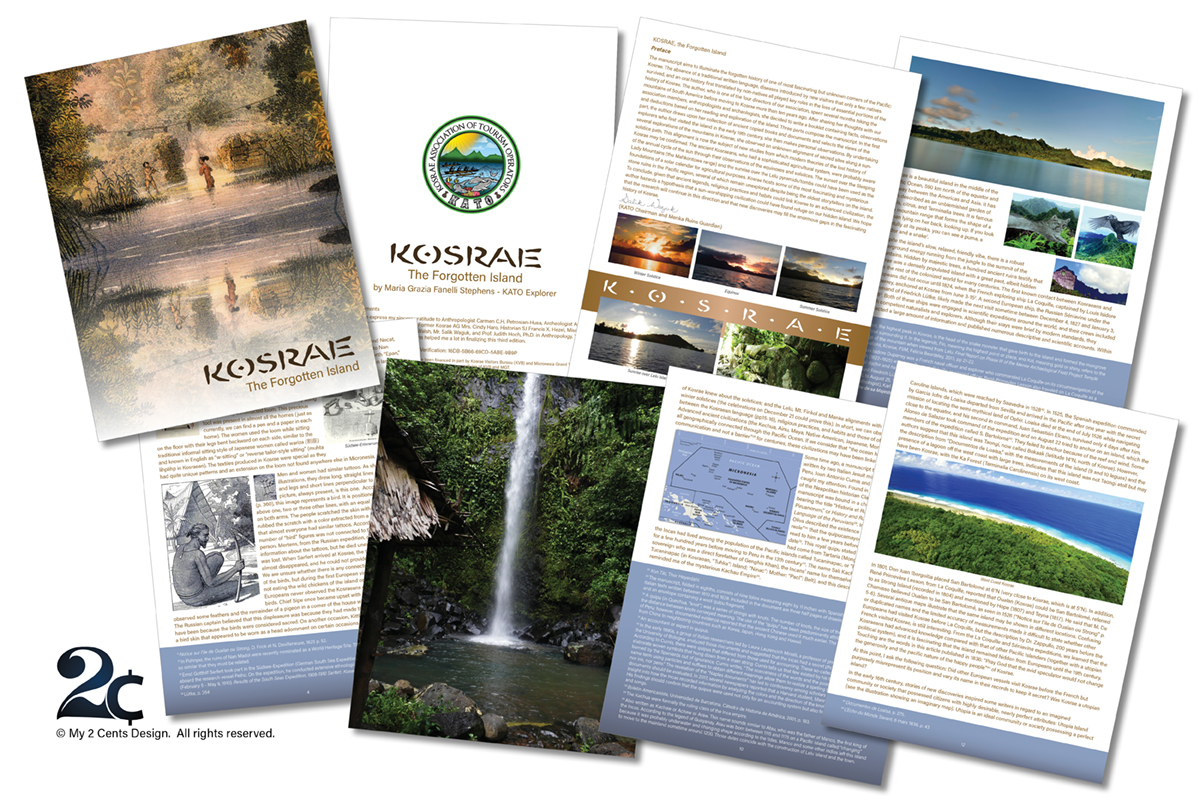 History Booklet Design - Non profit - travel booklet
