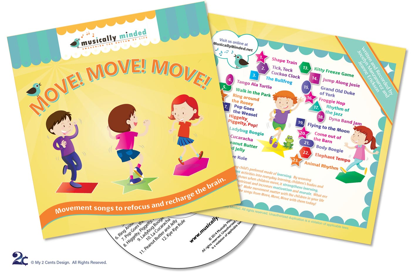 Childrens CD Cover and CD Label Graphic Design Sample