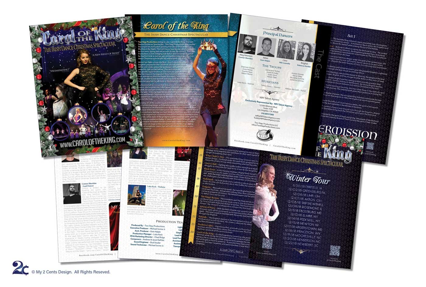 Professional Dance Performance Event Program Design
