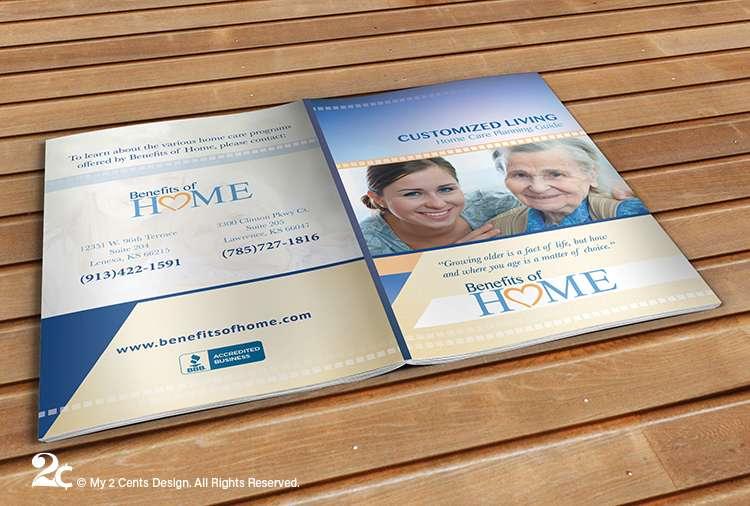 Senior Care Program Booklet Brochure Design 1