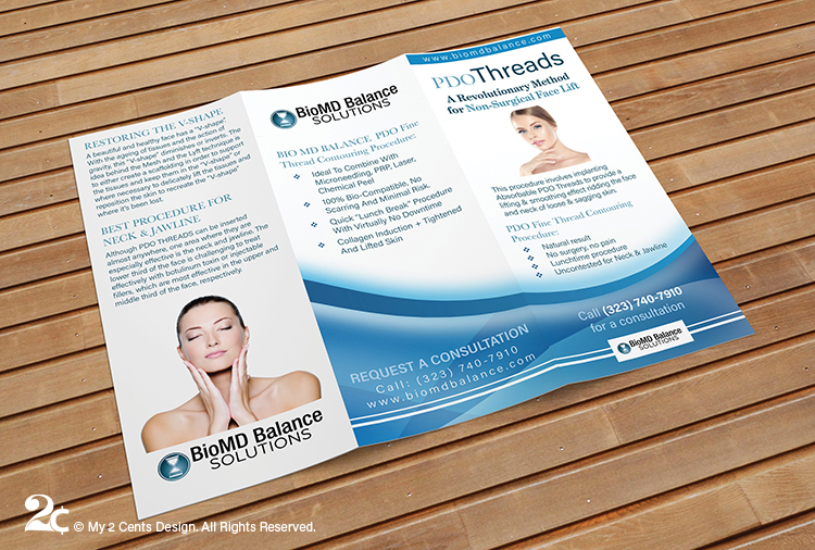 Cosmetic Medical Beauty Care Trifold Brochure Design 2