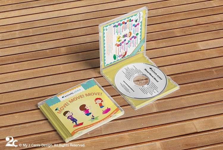 Childrens Music CD Case Design