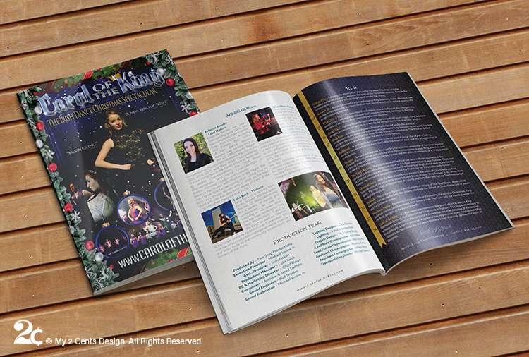 Irish Dance Performance Booklet Program Design 1