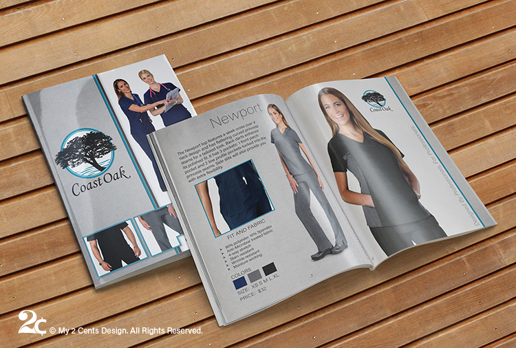 Medical Clothing Booklet Catalog Design