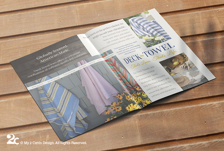 Luxury Linen Textiles Half Fold Brochure Bifold Brochure Design 3