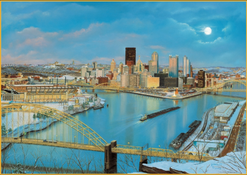 """""""Pittsburgh's New Horizon"""", Artist Linda Barnicott"""