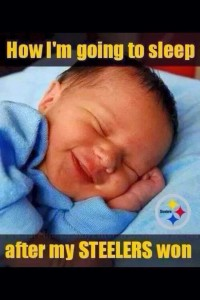 how I'm going to sleep after my steelers won