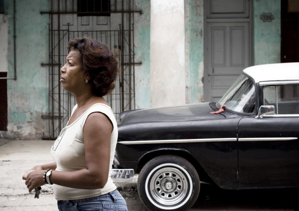 cuba fine art photography woman and car