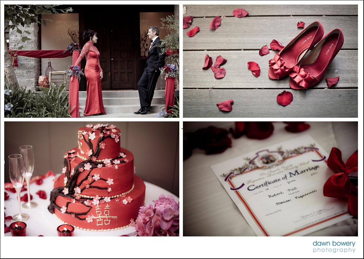 los angeles wedding photographer cake