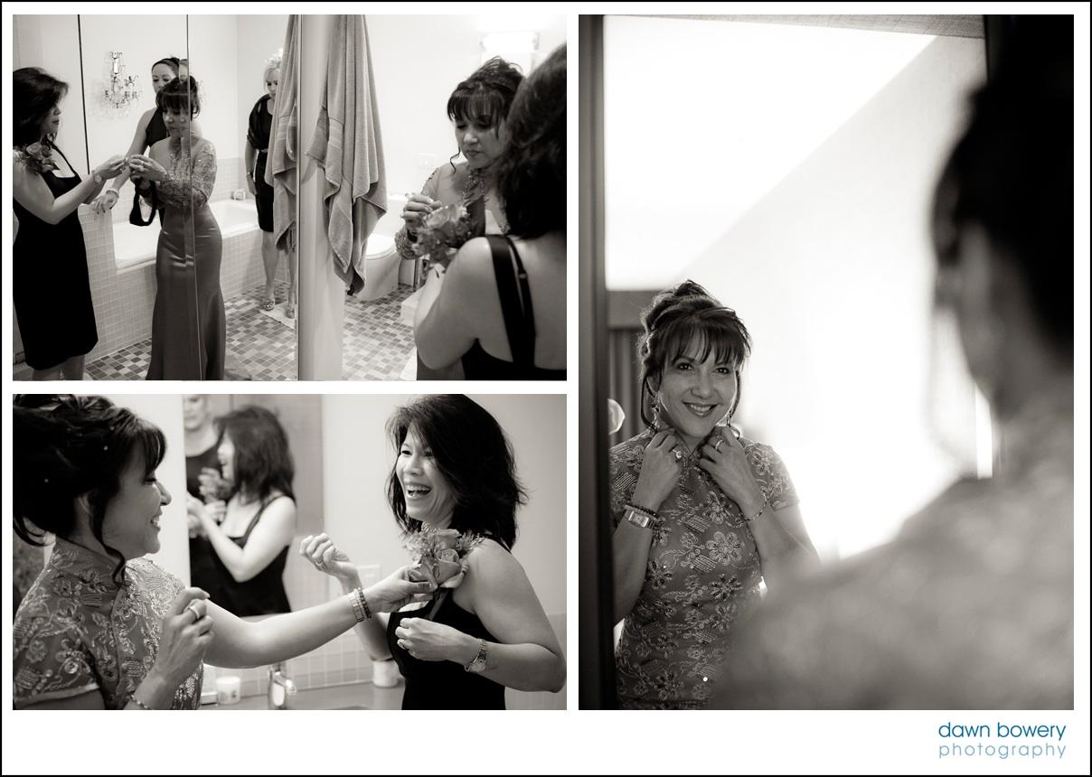 bel air wedding photographer getting ready