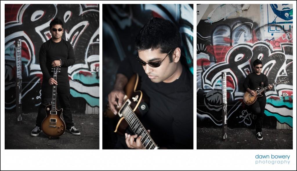 LA grungy music portrait shoot