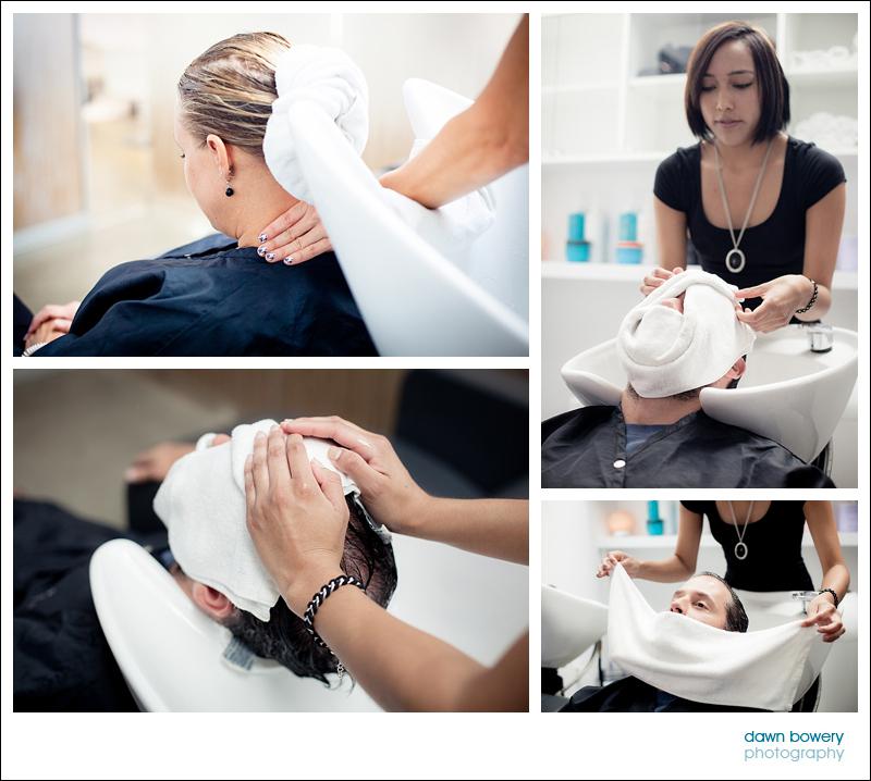 Los Angeles Editorial Photographer Hair salon salon nuuvo hair massage