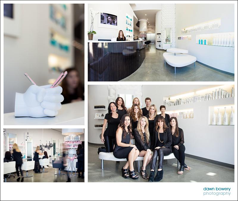 Los Angeles Editorial Photographer Hair salon - salon nuuvo