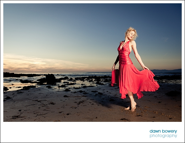 Los Angeles Creative Portrait Photographer red dress