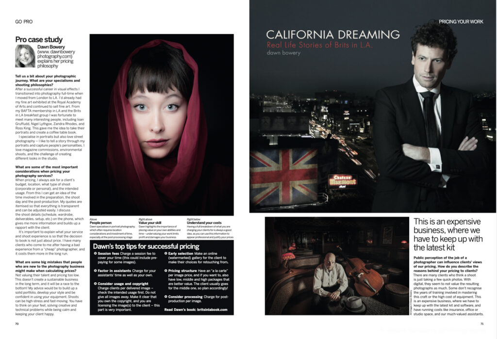 dawn bowery featured in digital photography magazine uk california dreaming book