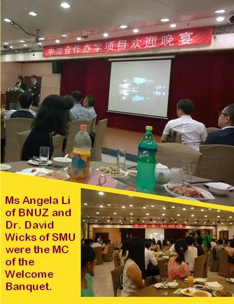 Ms Angela Li and Dr. David Wicks as the MC