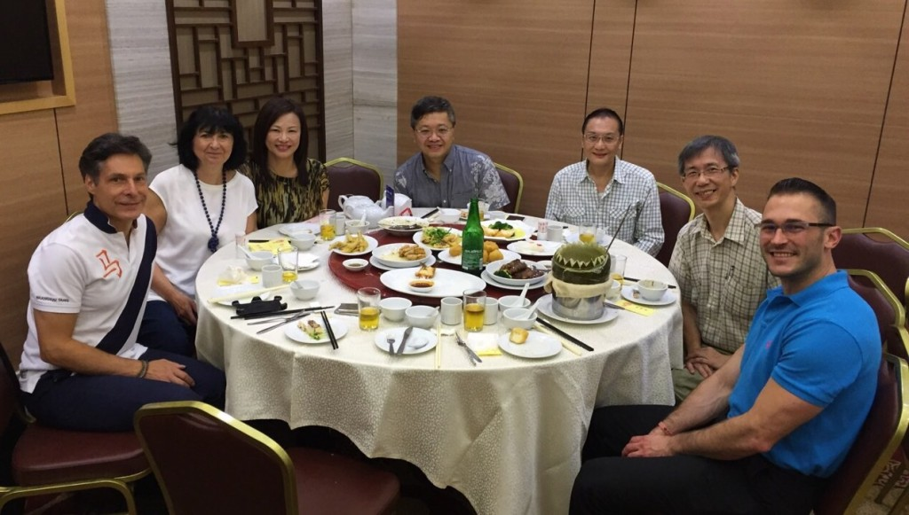 Winter melon soup was served and was greatly admired by our visitors.