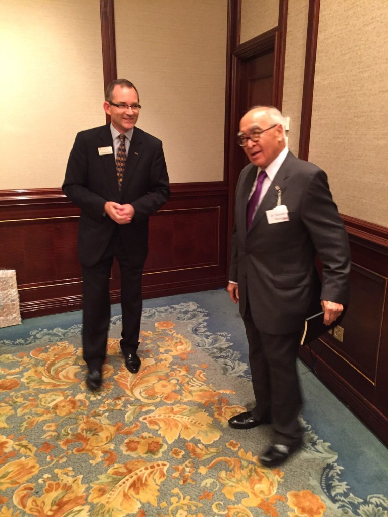 The new President and Mr. Ronald Wong