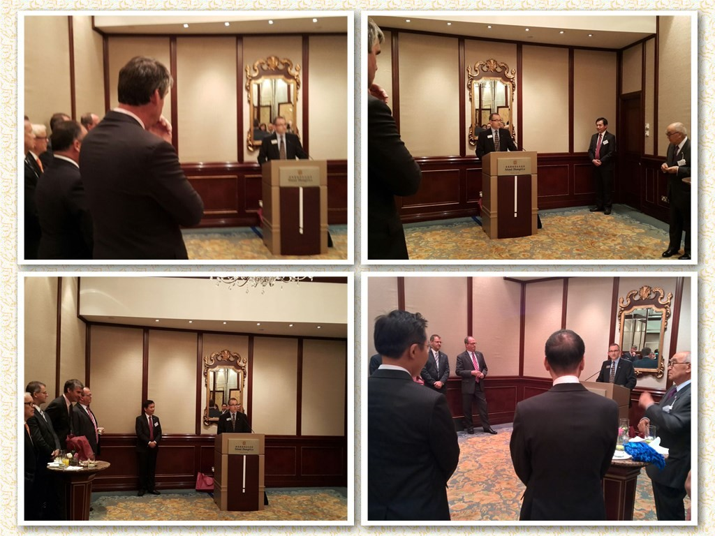 The new President making his first speech to the Hong Kong Chapter