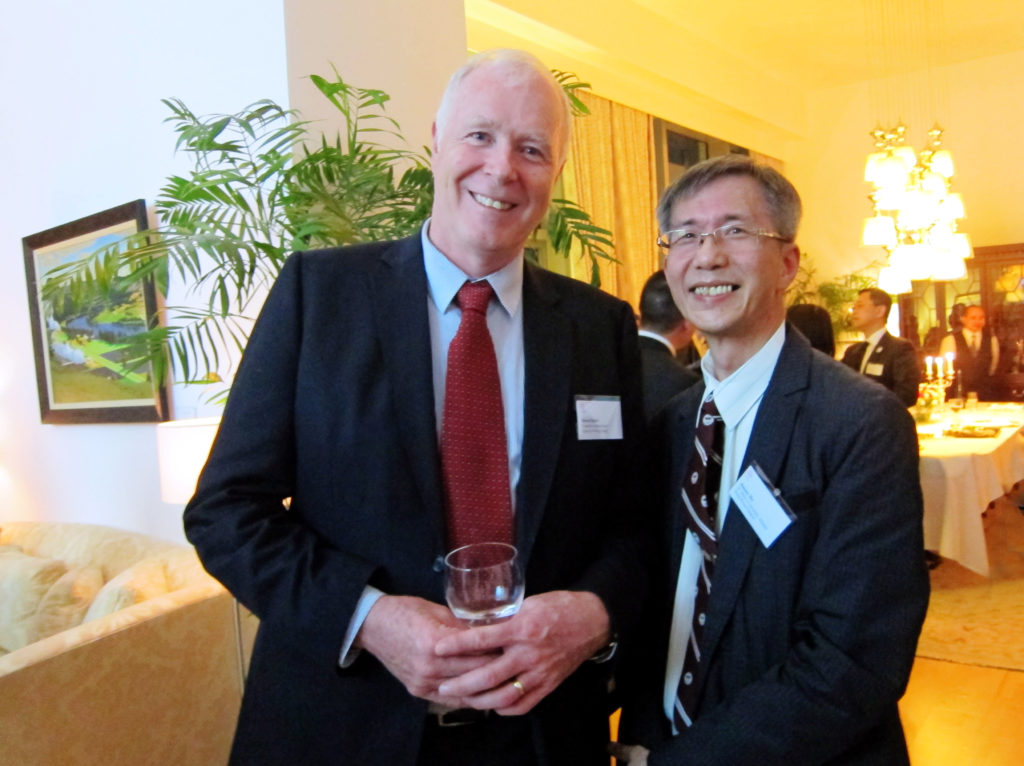 David Baird of Canadian International School of Hong Kong was also present at the reception.