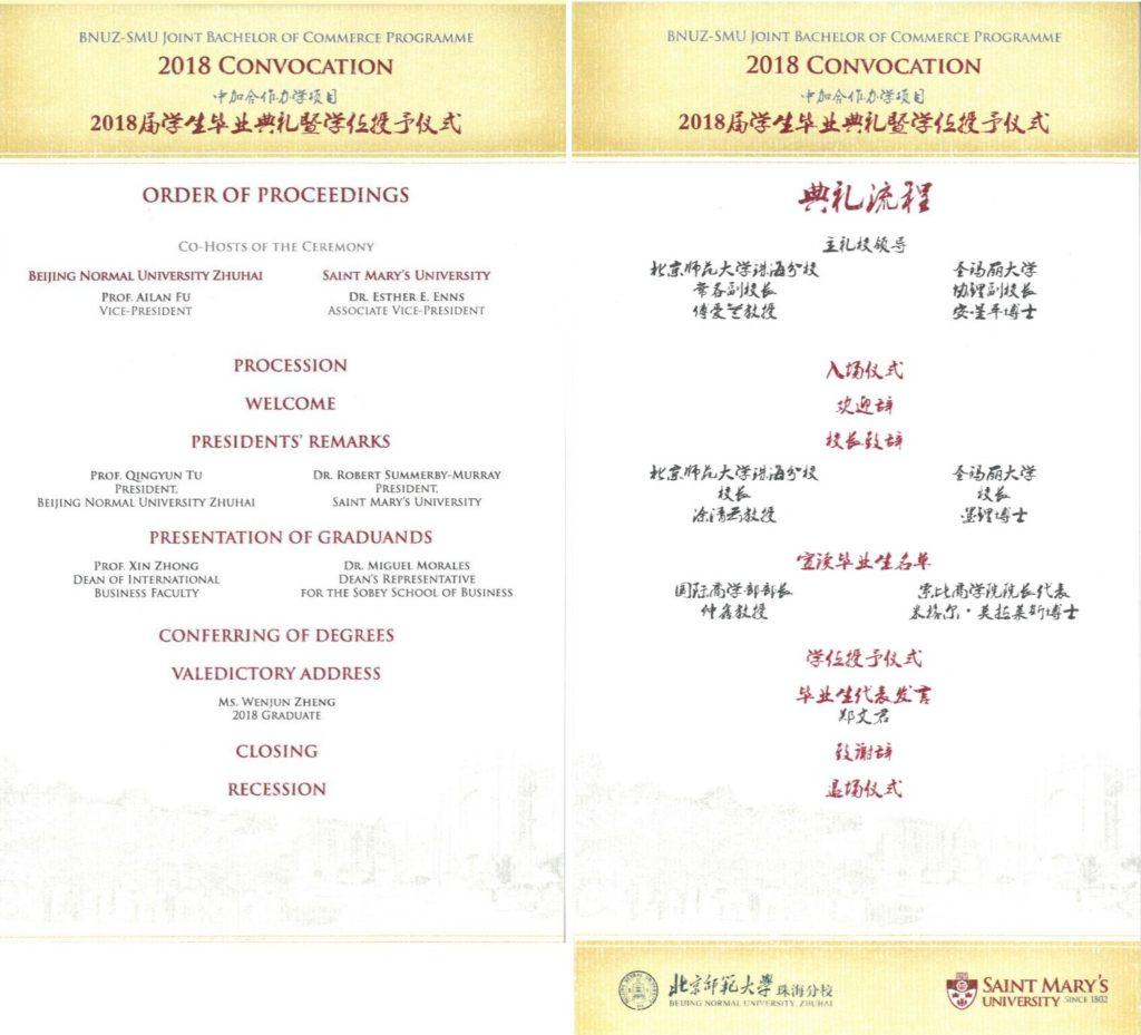 Order of Proceedings