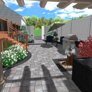 3D landscape design idea