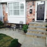 Blue Stone Treads Front Entrance