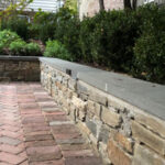Brick Patio with Seat Wall