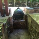 Built-in Green Egg Grill