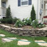 Dry Stone Stacked Retaining Wall